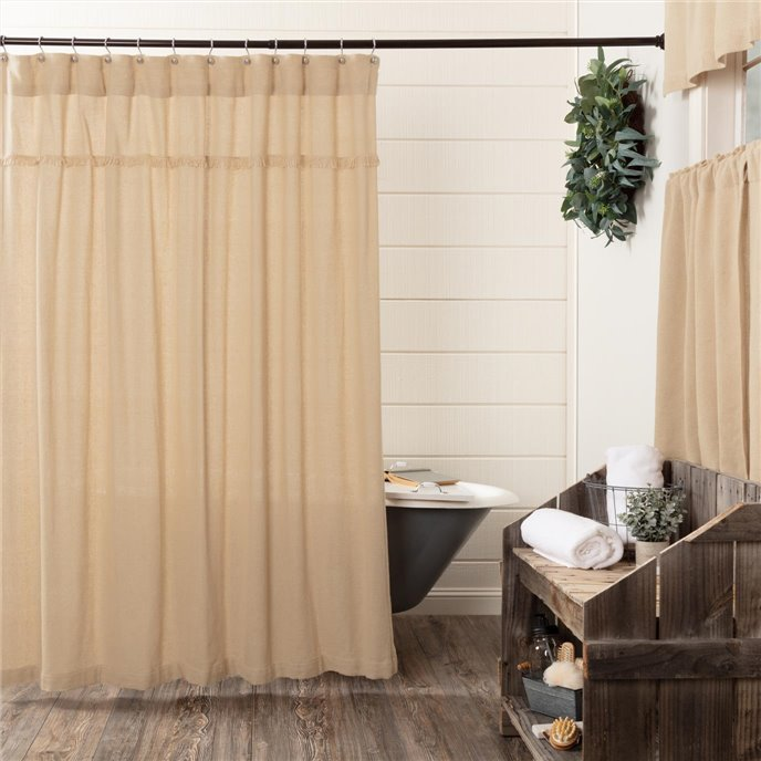 Burlap Vintage Shower Curtain 72x72 Thumbnail