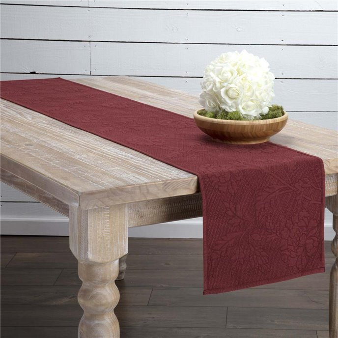 Carly Red Quilted Runner 13x72 Thumbnail