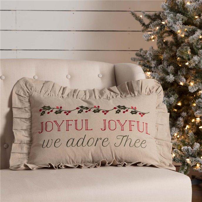 Carol Joyful Pillow 14x22 Thumbnail