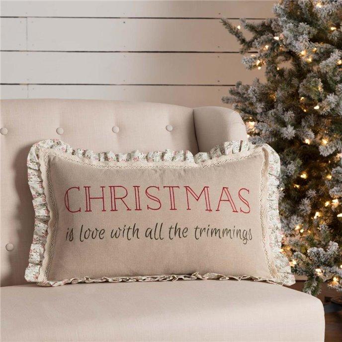 Carol Trimmings Pillow 14x22 Thumbnail