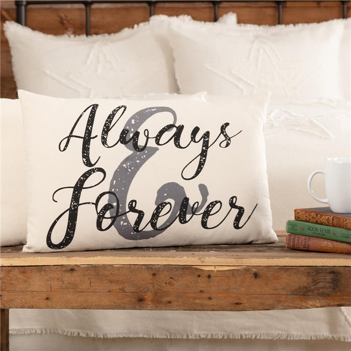 Casement Natural Always and Forever Pillow 14x22 Thumbnail