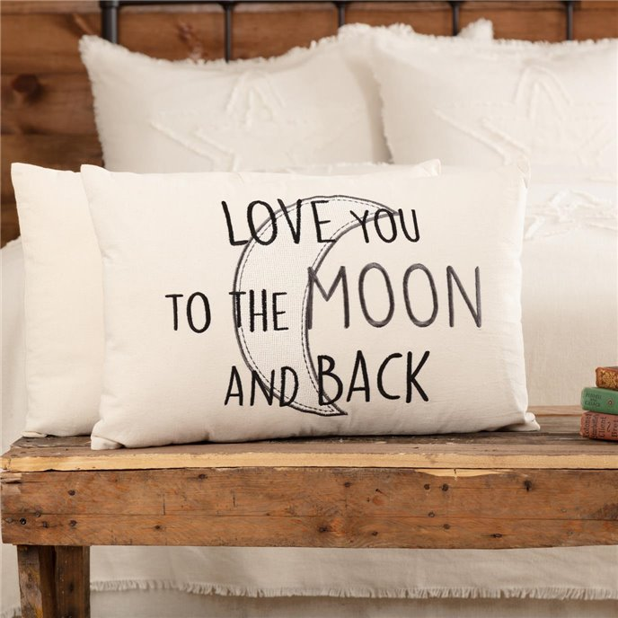 Casement Natural Love You to the Moon and Back Pillow 14x22 Thumbnail