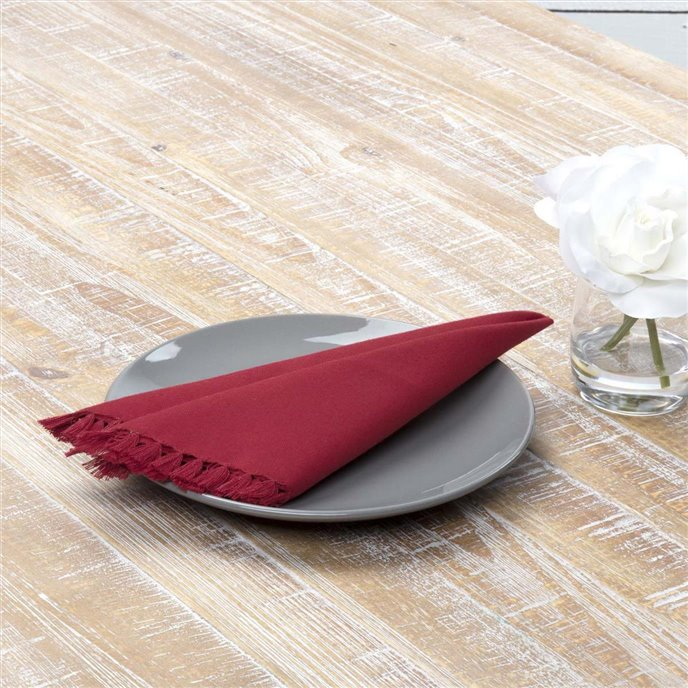Cassidy Red Napkin Set of 6 18x18 Thumbnail