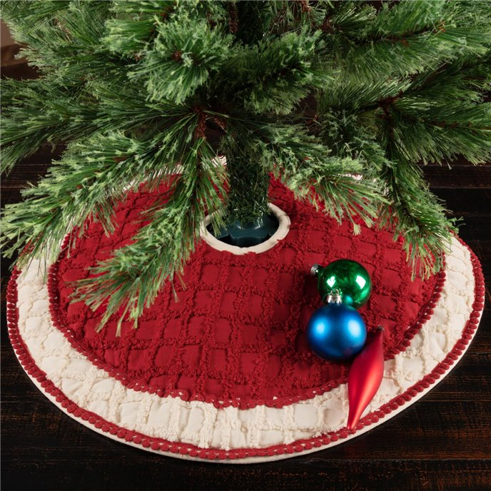 Chenille Christmas Mini Tree Skirt 21 Thumbnail