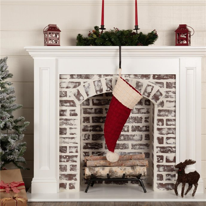 Chenille Christmas Santa Hat Stocking 9.5x20 Thumbnail