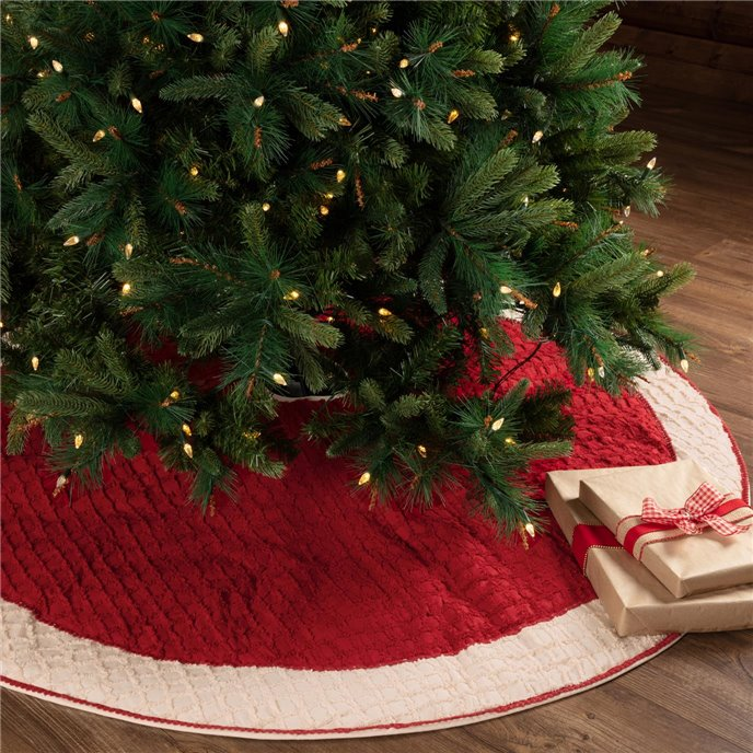 Chenille Christmas Tree Skirt 60 Thumbnail