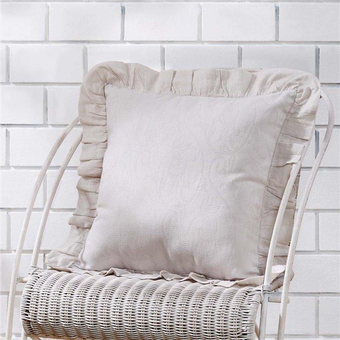 Corrine Ruffle Pillow Cover 18x18 Thumbnail