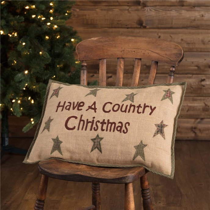 Country Christmas Pillow 14x22 Thumbnail
