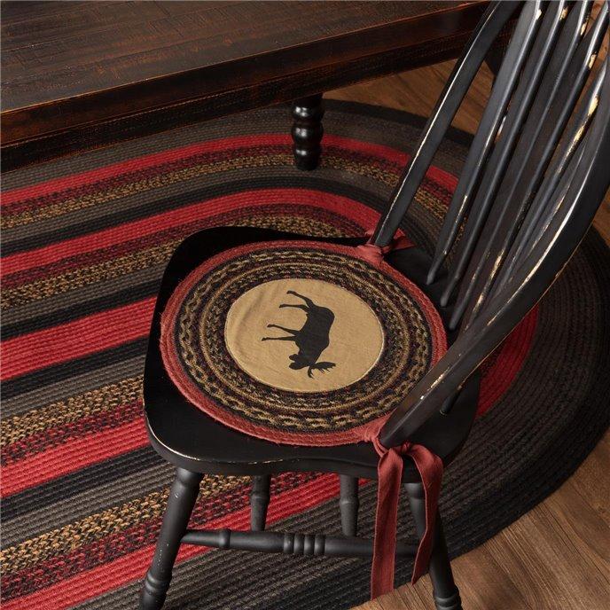 Cumberland Moose Applique Jute Chair Pad Set of 6 Thumbnail