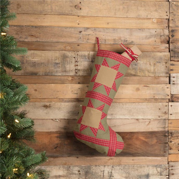Dolly Star Green Patch Stocking 12x20 Thumbnail