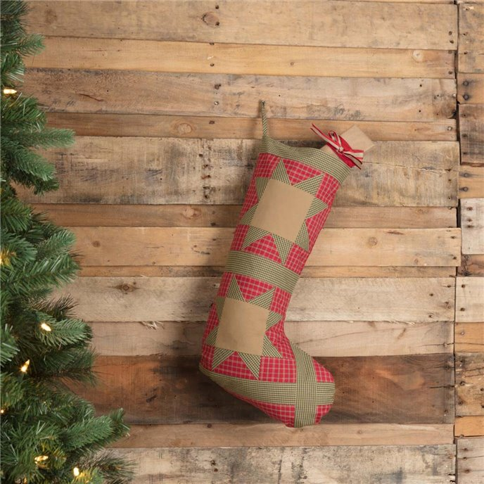 Dolly Star Red Patch Stocking 12x20 Thumbnail