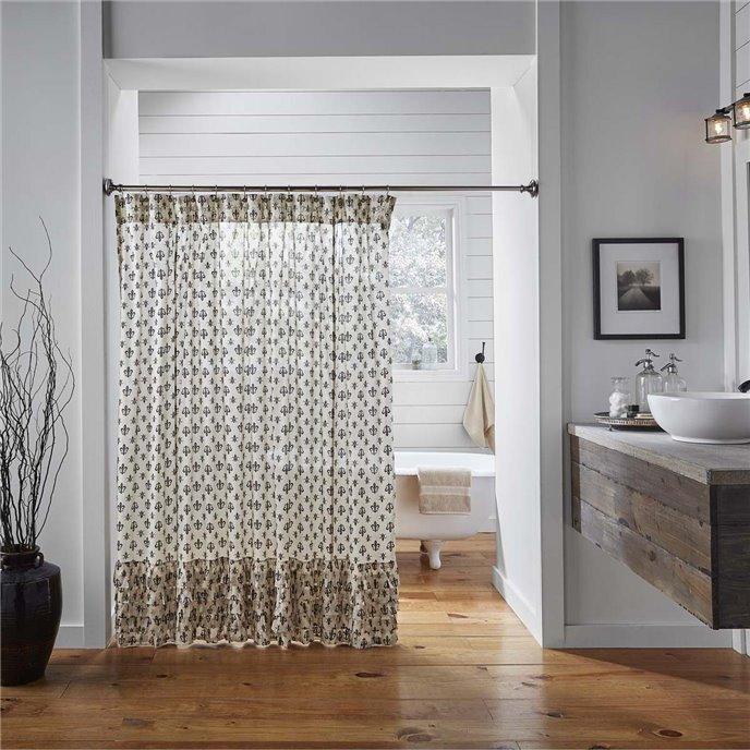 Elysee Ruffled Shower Curtain 72x72 Thumbnail