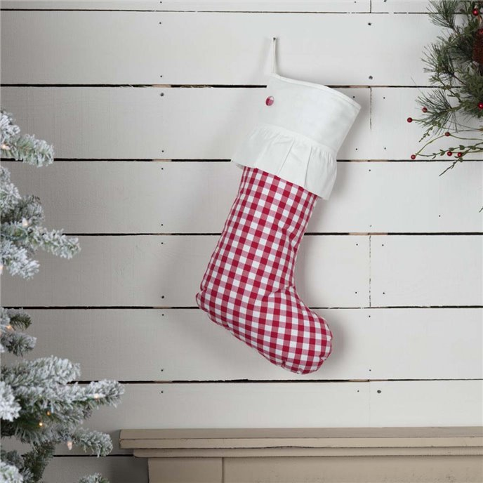 Emmie Red Check Stocking 12x20 Thumbnail
