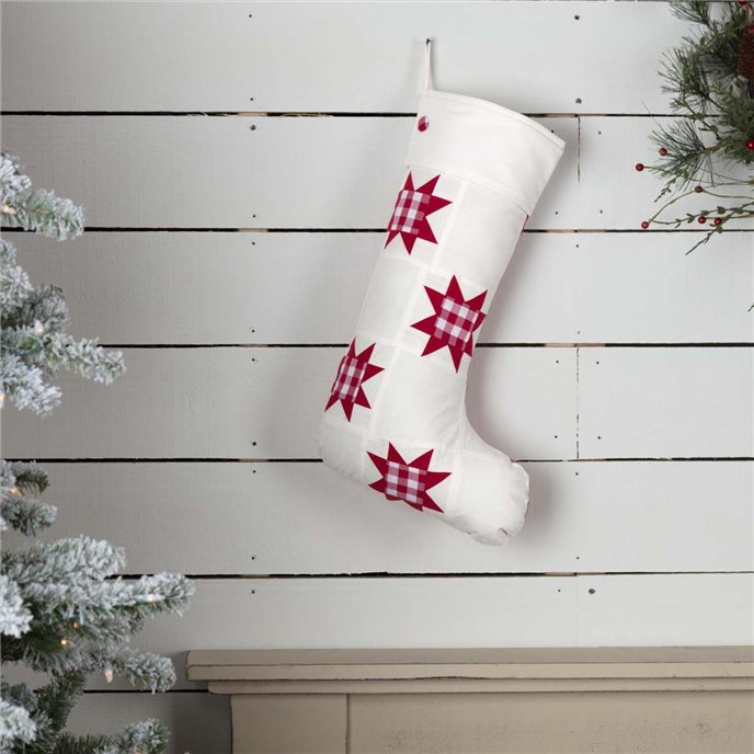 Emmie Red Patch Stocking 12x20 Thumbnail