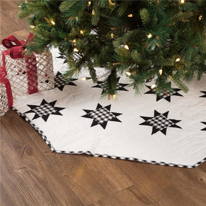 Emmie Black Patchwork Tree Skirt 55 Thumbnail