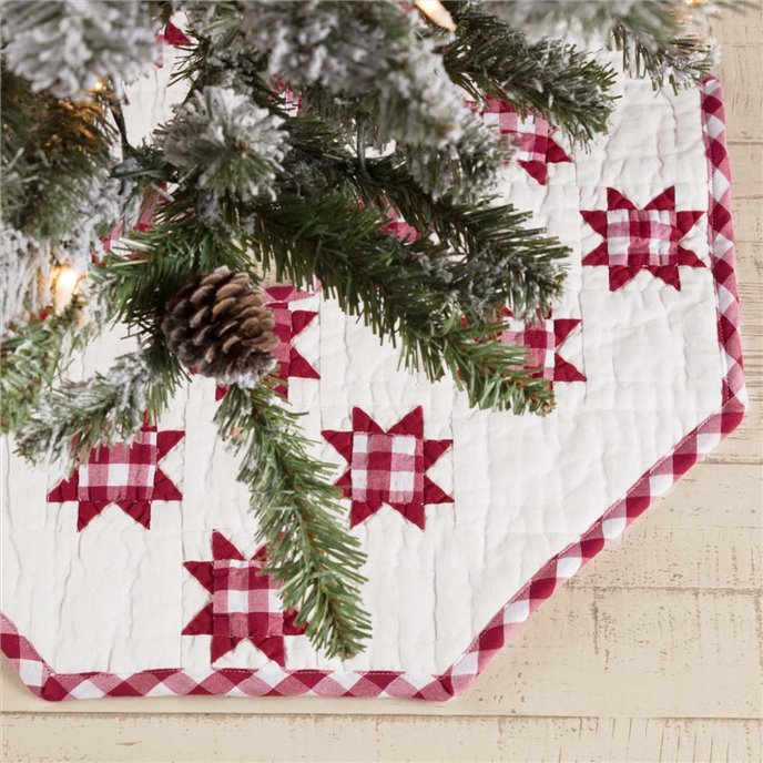 Emmie Red Patchwork Mini Tree Skirt 21 Thumbnail