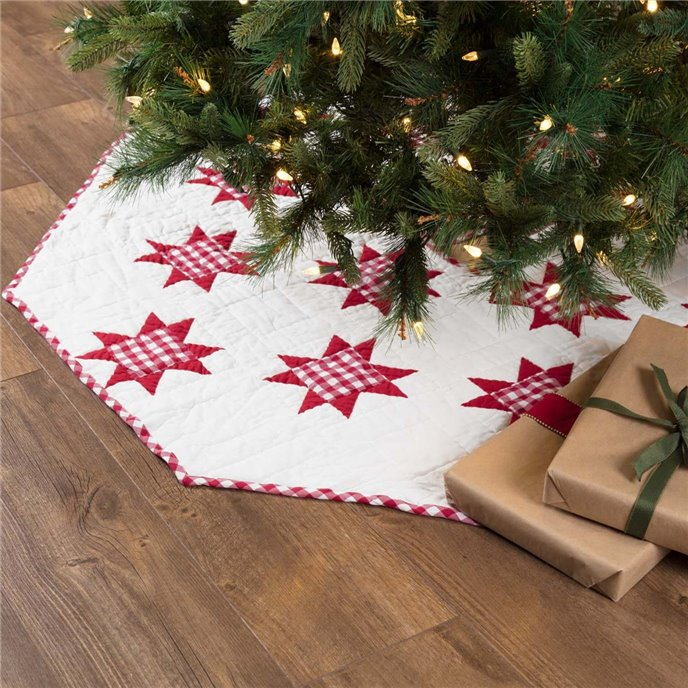 Emmie Red Patchwork Tree Skirt 55 Thumbnail