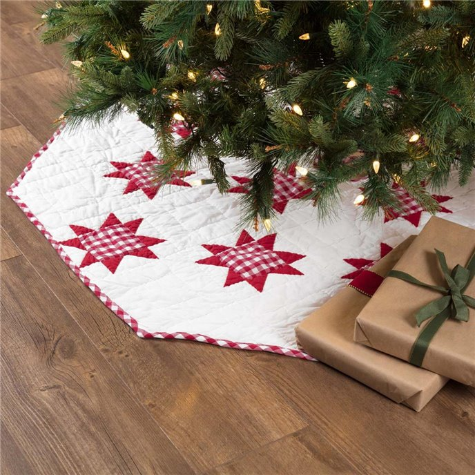 Emmie Red Patchwork Tree Skirt 60 Thumbnail