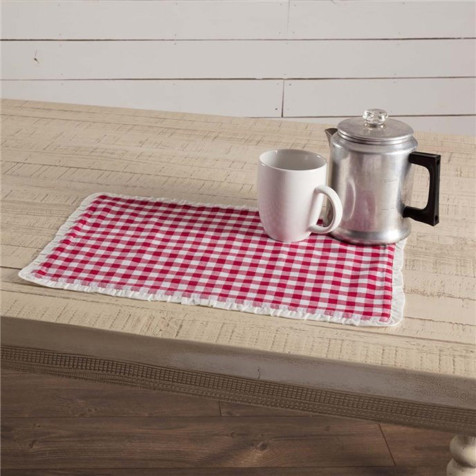 Emmie Red Placemat Set of 6 12x18 Thumbnail
