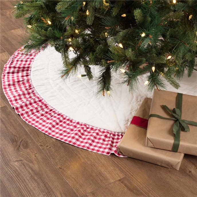 Emmie Red Ruffled Tree Skirt 55 Thumbnail