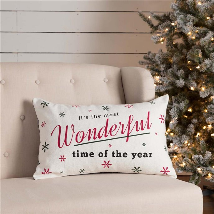 Emmie Wonderful Time Pillow 14x22 Thumbnail