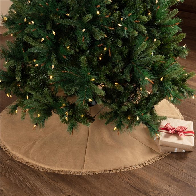 Festive Natural Burlap Tree Skirt 48 Thumbnail