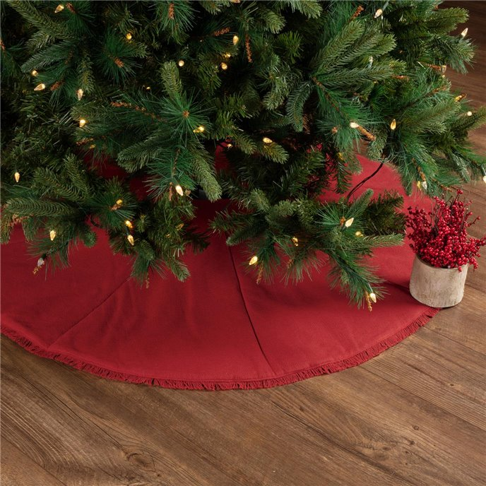 Festive Red Burlap Tree Skirt 48 Thumbnail