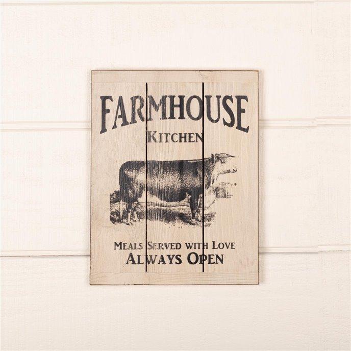 Farmhouse Kitchen Cow Wood Sign Thumbnail