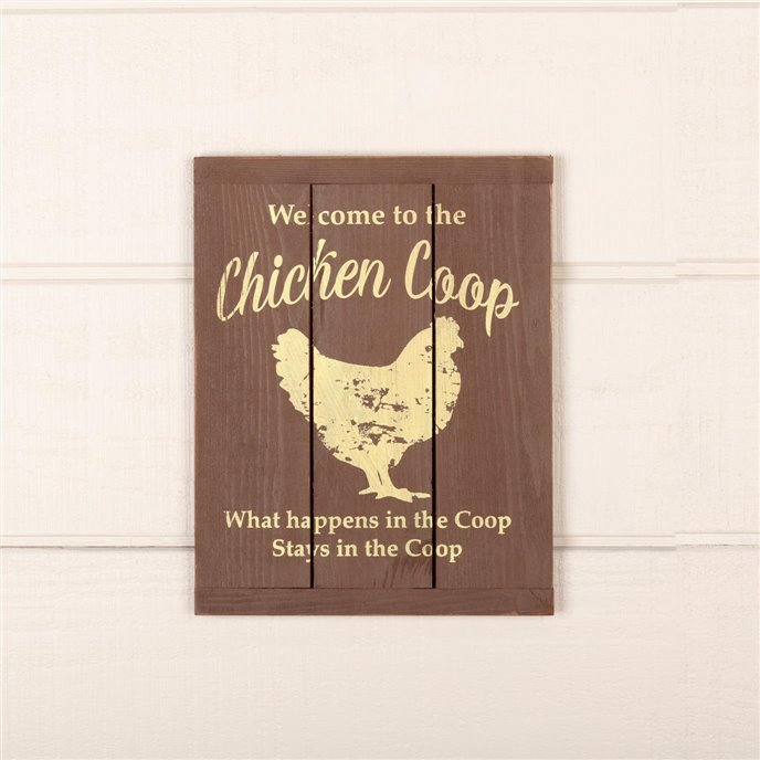 Welcome to the Chicken Coop Wooden Sign Thumbnail