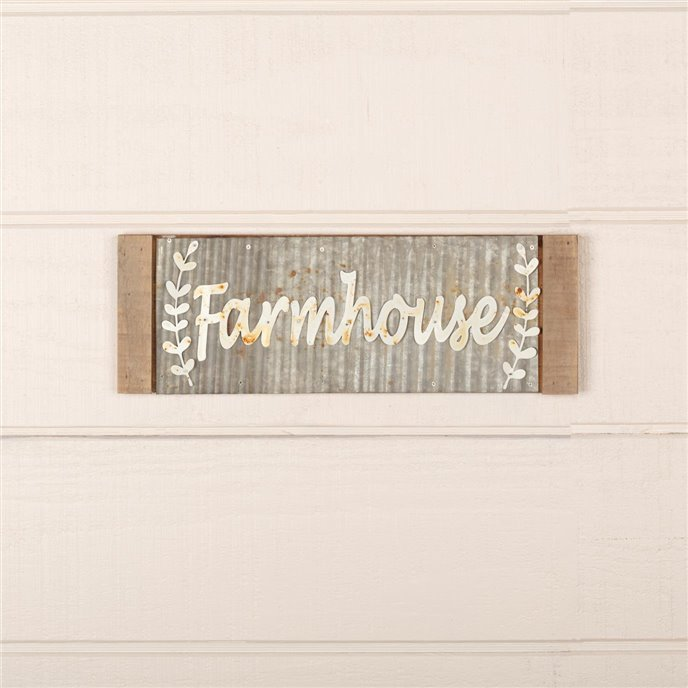 Galvanized Metal Farmhouse Sign 17x6 Thumbnail