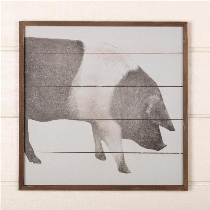 Farmhouse Pig Wall Sign 20x20 Thumbnail