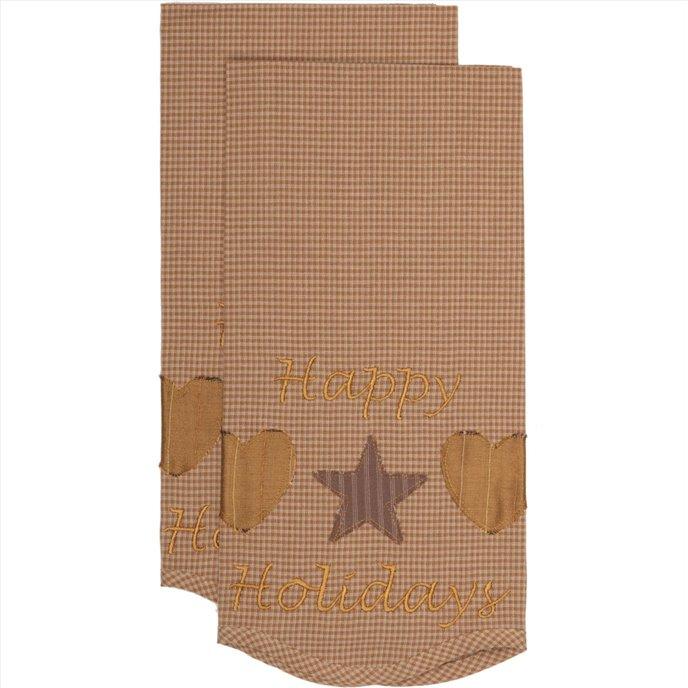 Hearts and Stars Tea Towel Set of 2 19x28 Thumbnail