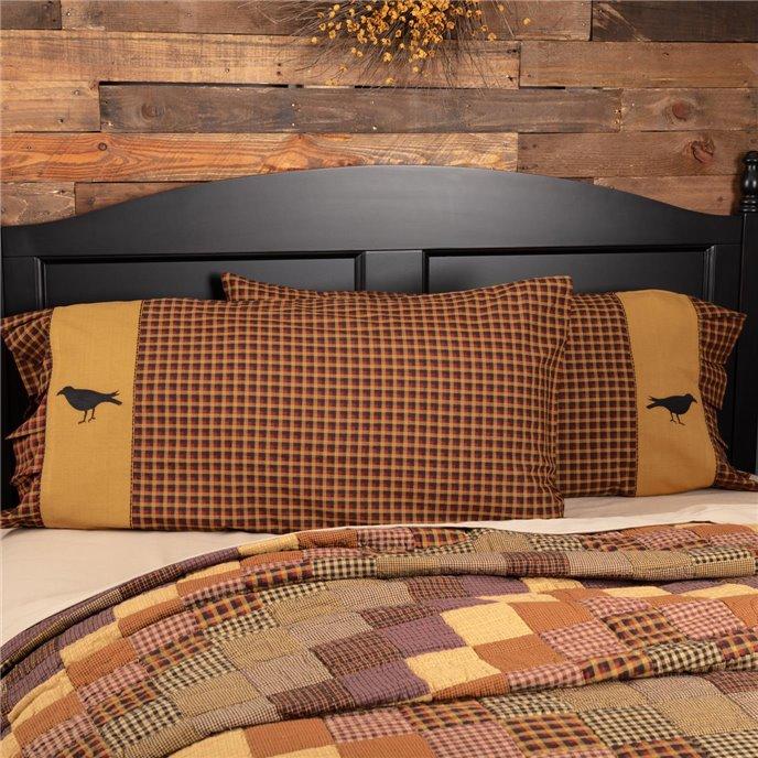 Heritage Farms Crow King Pillow Case Set of 2 21x40 Thumbnail