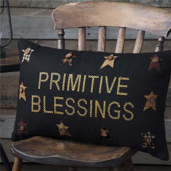 Heritage Farms Primitive Blessings Pillow 14x22 Thumbnail