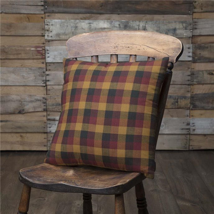 Heritage Farms Primitive Check Fabric Pillow 16x16 Thumbnail