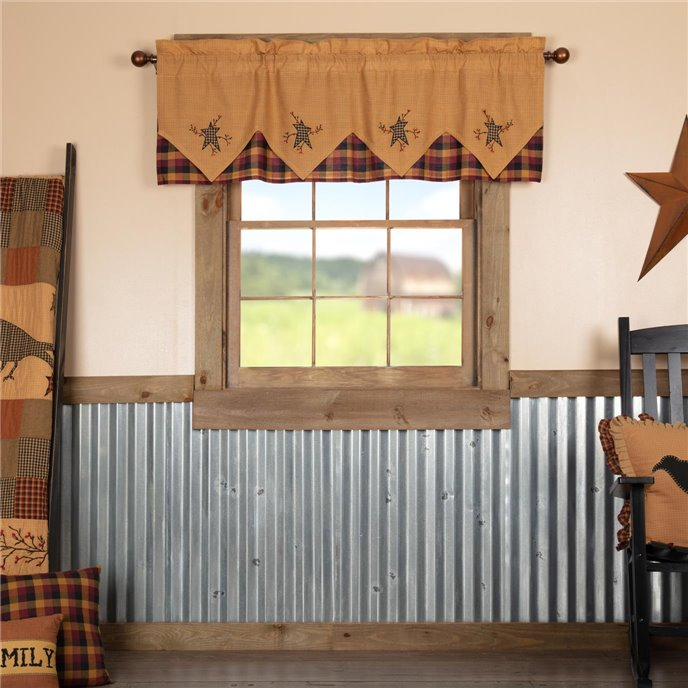 Heritage Farms Primitive Star and Pip Valance Layered 20x60 Thumbnail
