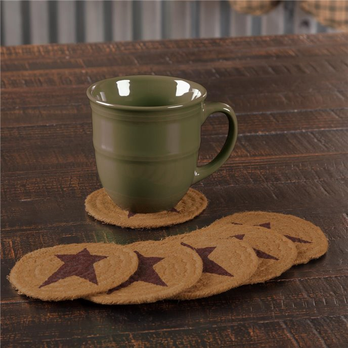 Heritage Farms Star Jute Coaster Set of 6 Thumbnail