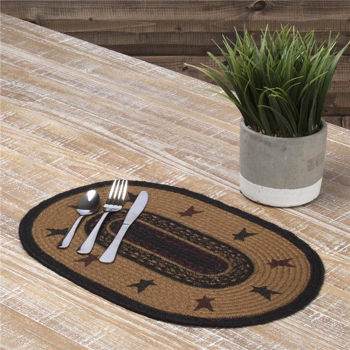 Heritage Farms Star Jute Placemat Set of 6 12x18 Thumbnail