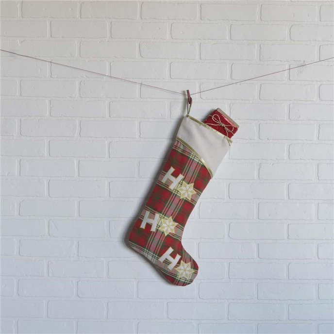 HO HO Holiday Stocking 11x20 Thumbnail