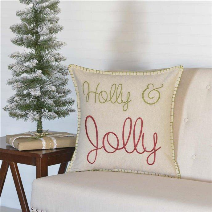 Holly & Jolly Pillow 18x18 Thumbnail