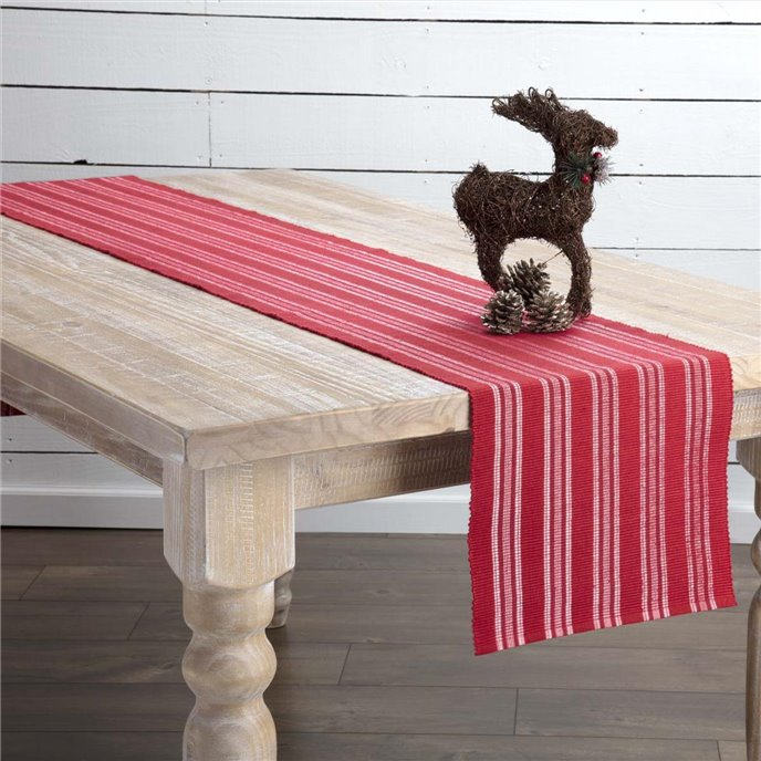 Holly Red Ribbed Runner 13x90 Thumbnail