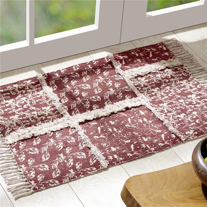 Isabella Patchwork Stenciled Rug 20x30 Thumbnail