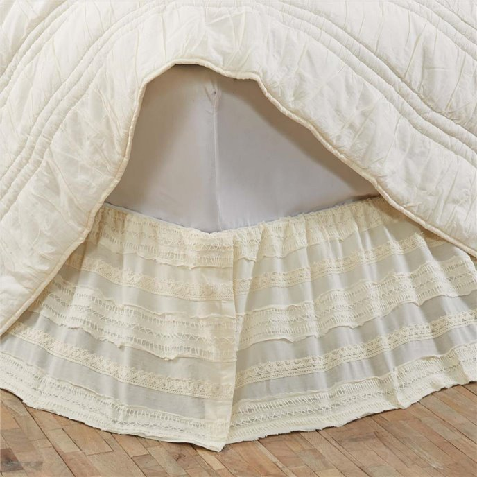Jasmine Creme Twin Bed Skirt 39x76x16 Thumbnail
