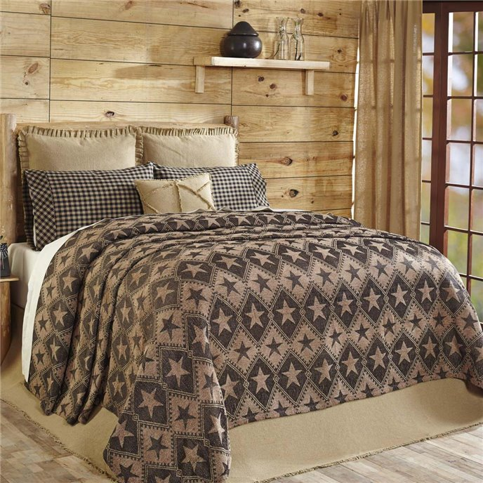 Jefferson Star Queen Chenille Woven Coverlet 103x100 Thumbnail