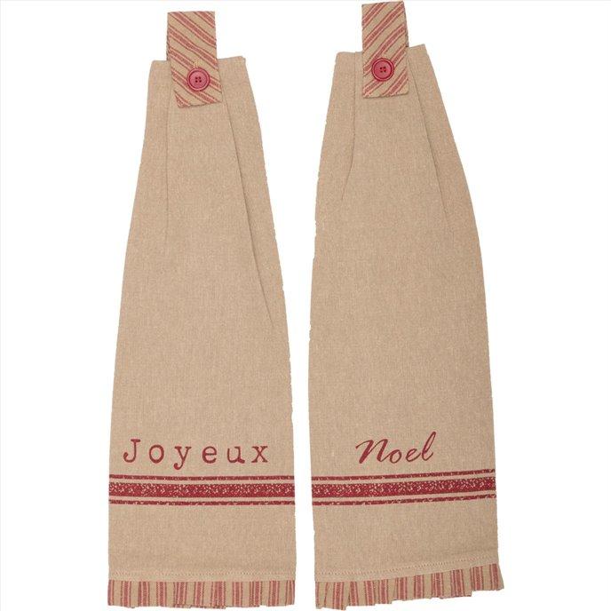 Joyeux Button Loop Kitchen Towel Set of 2 Thumbnail