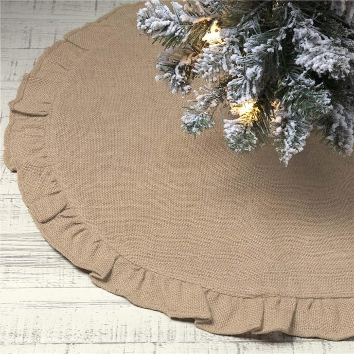 Jute Burlap Natural Mini Tree Skirt 21 Thumbnail