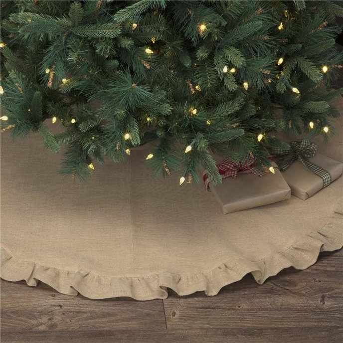 Jute Burlap Natural Tree Skirt 55 Thumbnail