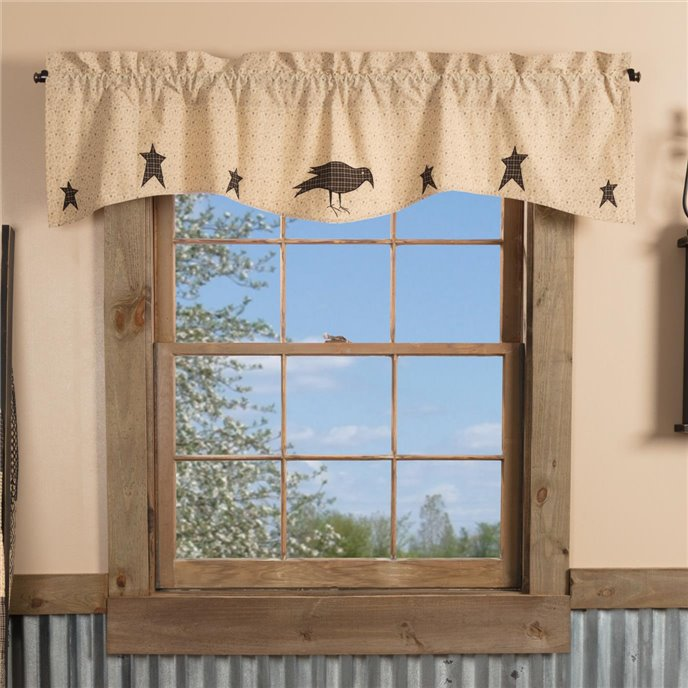 Kettle Grove Applique Crow and Star Valance 16x60 Thumbnail