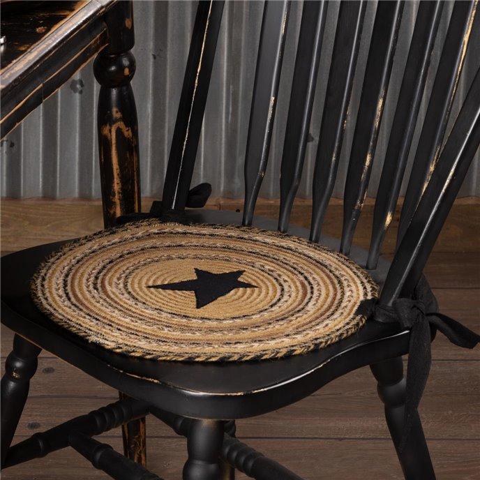 Kettle Grove Jute Chair Pad Applique Star Set of 6 Thumbnail