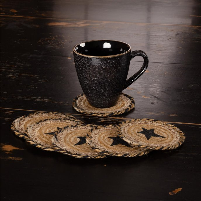 Kettle Grove Jute Coaster Stencil Star Set of 6 Thumbnail